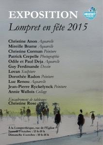 Affiche Expo Lompret en fete 2015 [54290]